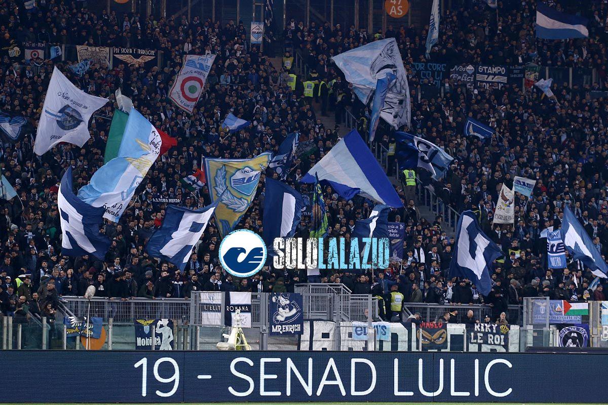 Derby, Curva Nord a Lazio-Milan