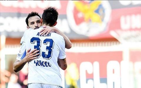 Acerbi e Badelj in Genoa - Lazio