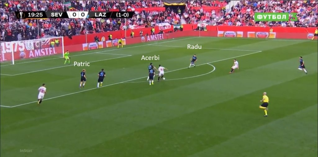 Lazio, difesa primo gol Siviglia