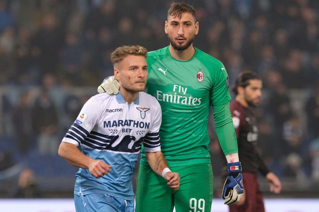 Lazio-Milan, Donnarumma Immobile