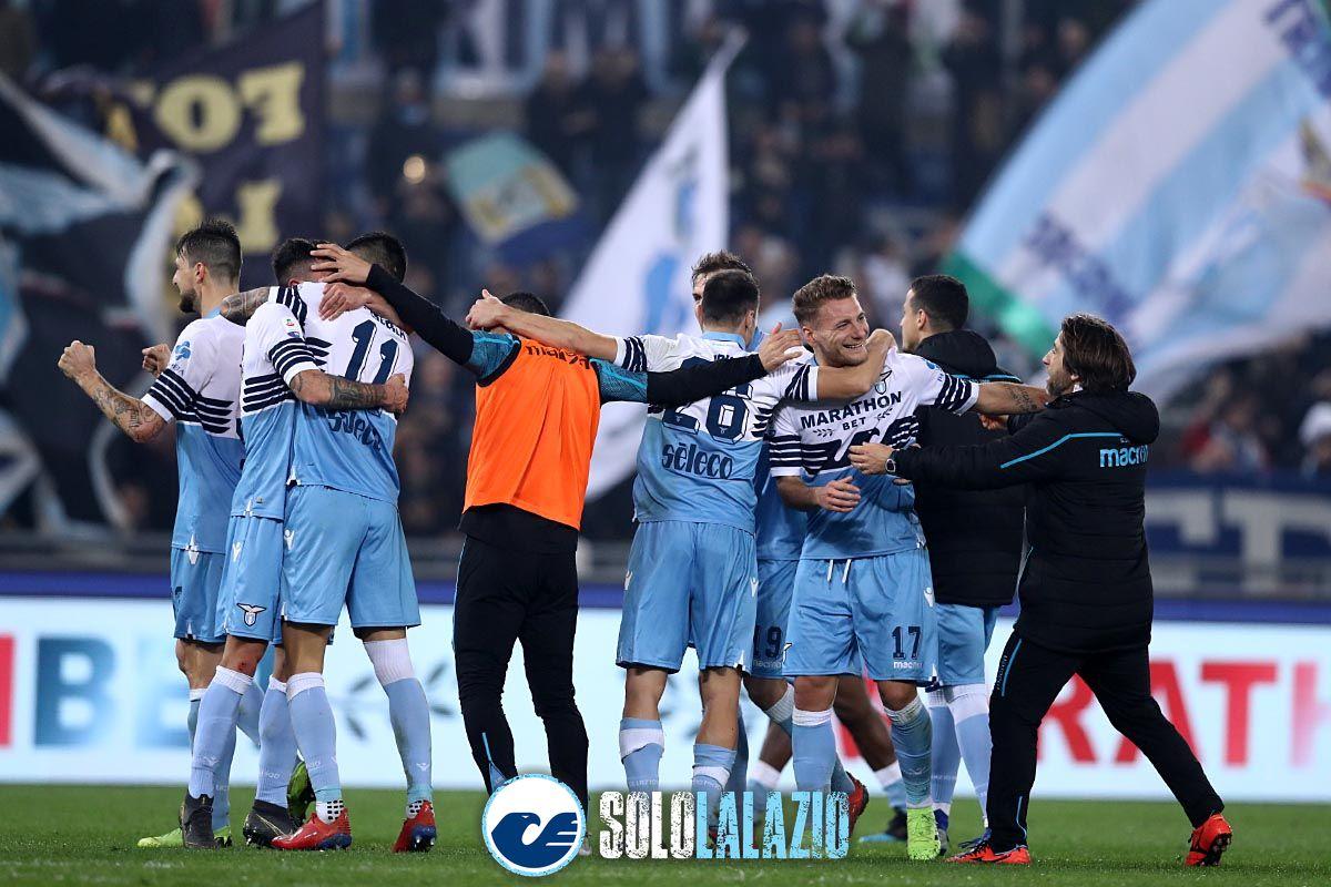 Derby, festeggiamenti Lazio