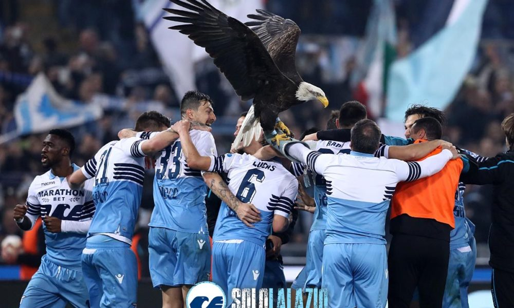 Lazio, la festa dopo la vittoria