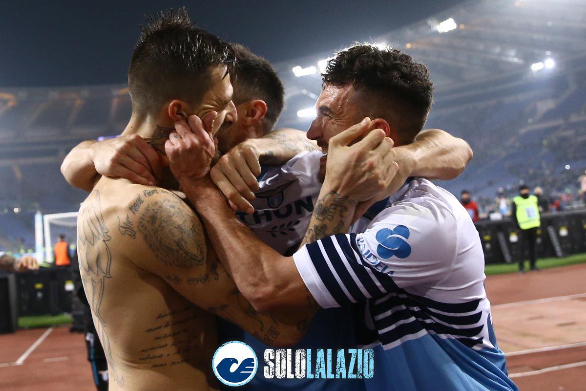 Lazio-Roma, esultanza Lazio-Roma