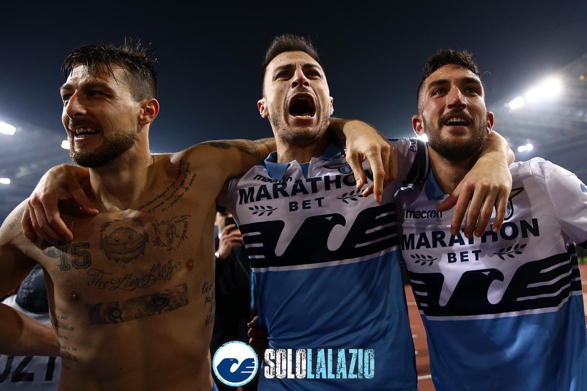 Lazio-Roma, esultanza