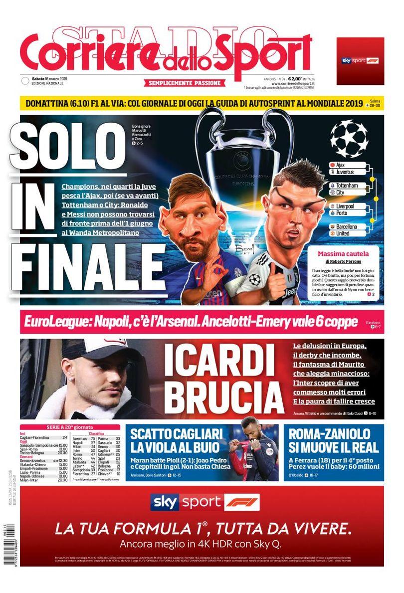 Rassegna 16 marzo, Il Corriere dello Sport