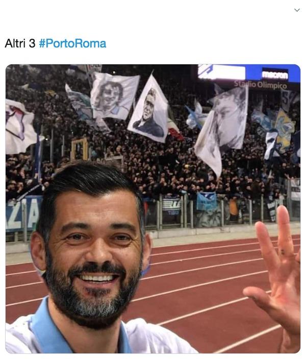 Porto-Roma, sfottò laziali 1