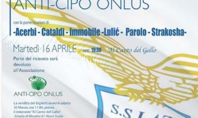 Lazio, cena Anti-Cipo Onlus