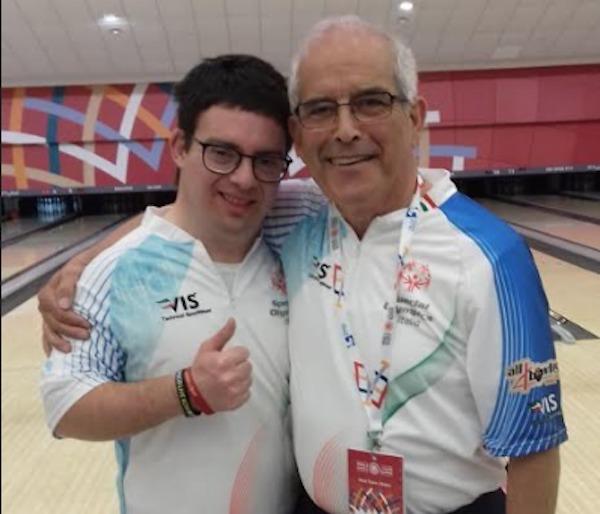 Lazio Bowling, Fabio Borgognoni con Martino Pota
