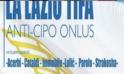 La Lazio tifa Anti-Cipo Onlus