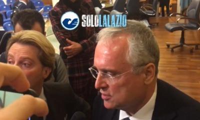 """Lazio - Atalanta, Lotito: """"Loro hanno più fame di noi"""""""
