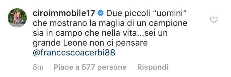 Milan-Lazio, il commento di immobile al gesto di Bakayoko e Kessié