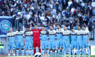 Lazio-Sassuolo, minuto di silenzio