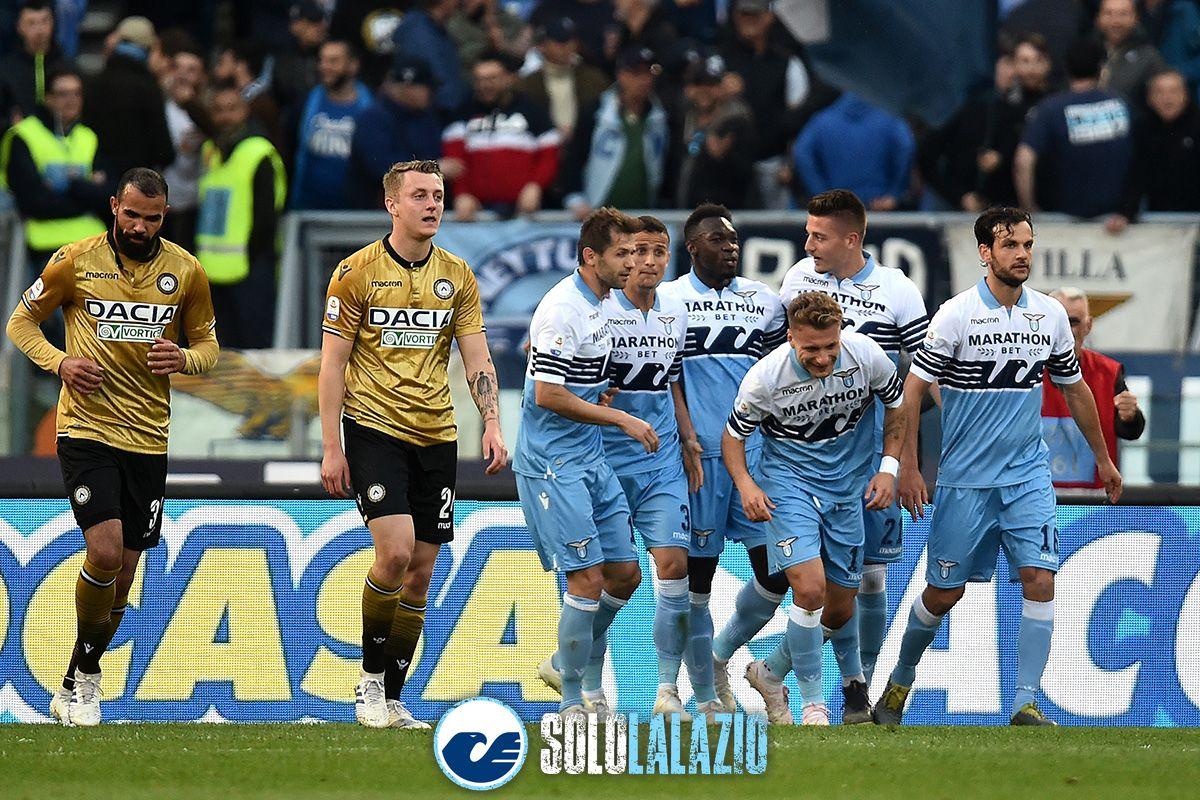 Lazio-Udinese, esultanza