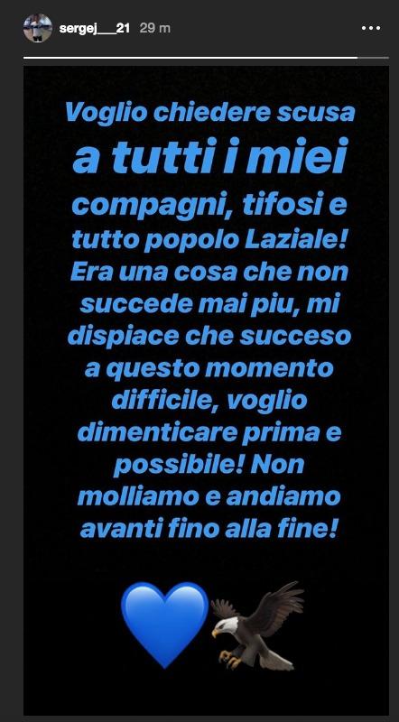 Lazio-Chievo, scuse Milinkovic