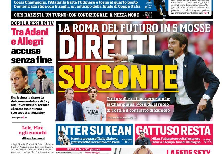 Lazio Il Corriere Dello Sport L Anti Gasp Solo La Lazio