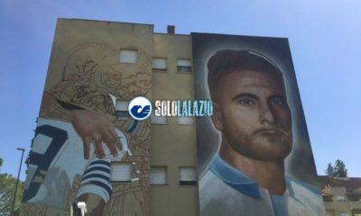 Lazio, murales Immobile a Ponte di Nona