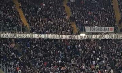 Lazio-Bologna, striscione per Armando