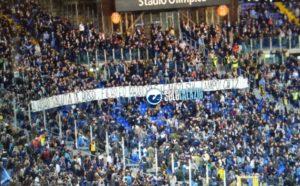Lazio-Bologna, la Curva Nord saluta De Rossi (FOTO)