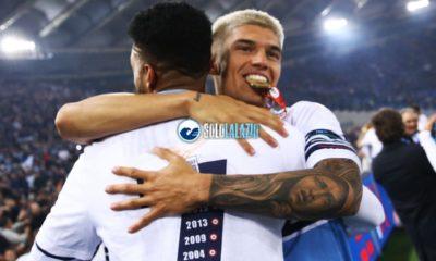 Joaquin Correa premiazione Coppa Italia