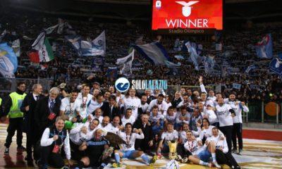 Lazio premiazione Coppa Italia