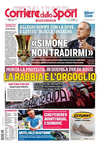 CorSport di Roma, Lotito a Inzaghi: