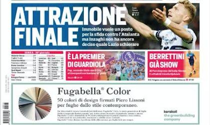 Rassegna stampa, Corriere dello Sport-edizione romana 13/05/2019