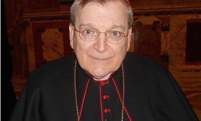 Lazio, il cardinale Burke all'Olimpico per la finale di Coppa Italia