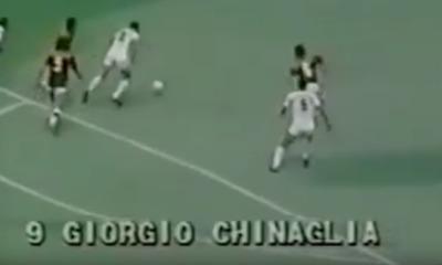 Chinaglia in NY Cosmos-Roma del 1980