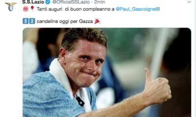 Gascoigne, auguri Lazio