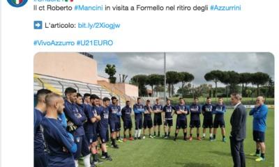 Under 21, Roberto Mancini visita Formello