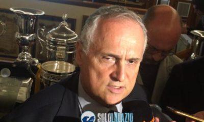 """Inaugurazione nuovo negozio, Lotito: """"Vorrei lo stadio pieno contro la Juve"""""""
