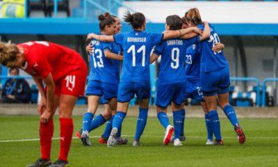Nazionale femminile, tutto pronto per il Mondiale. Battuta la Svizzera