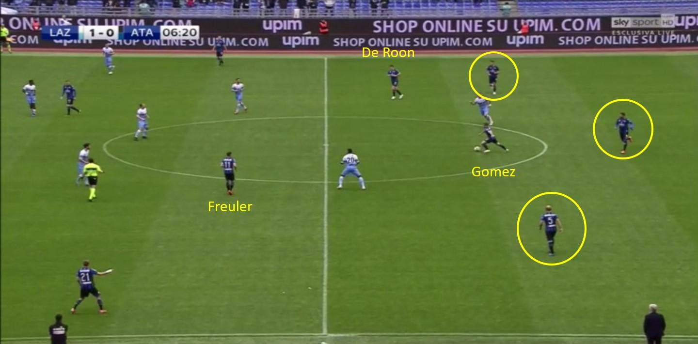 Lazio, la posizione di Gomez dell'Atalanta
