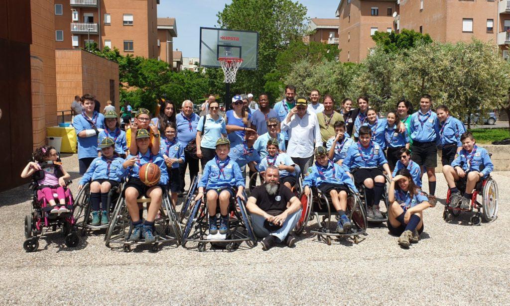 Lazio Motociclismo con i ragazzi della Lazio Basket in Carrozzina