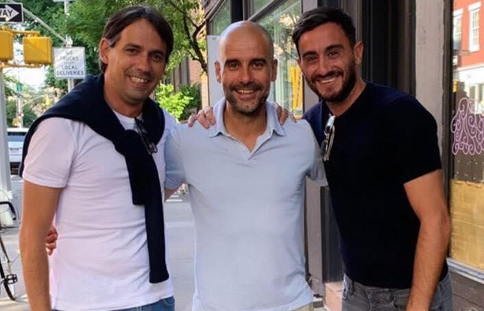 Simone Inzaghi, Pep Guardiola e Alberto Aquilani
