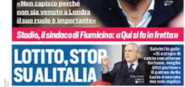 Rassegna stampa, Corriere dello Sport-Roma 15 giugno 2019