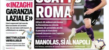 Rassegna stampa, Corriere dello Sport-Roma 22 giugno 2019