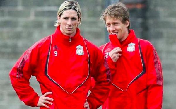 Fernando Torres e Lucas Leiva