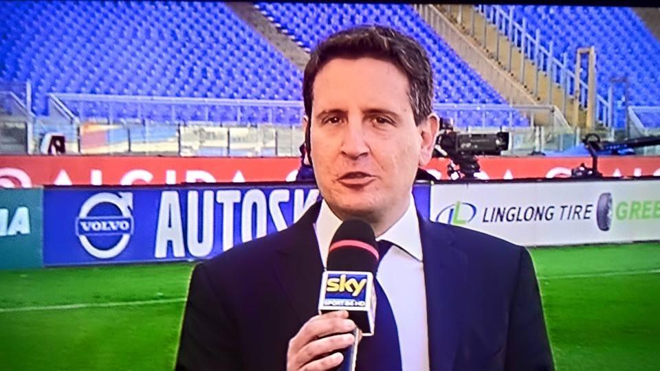 Il giornalista di Sky Sport