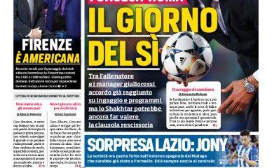 Lazio, prima pagina Corriere dello Sport romano 5 giugno 2019
