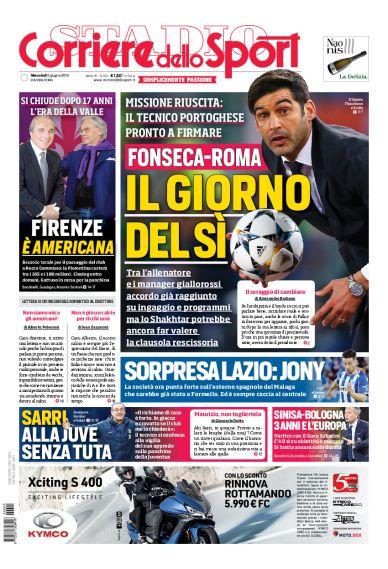 Calciomercato Lazio, il Corriere dello Sport titola ...