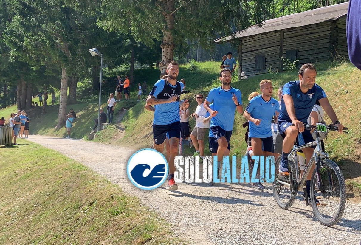 Lazio allenamento Auronzo