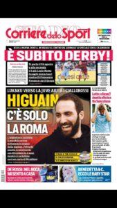 Corriere Dello Sport Calendario.Prima Pagina Del Corriere Dello Sport Edizione Roma