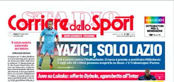 Rassegna stampa, Corriere dello Sport-Roma 27 luglio 2019
