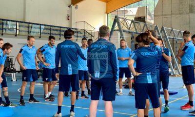 Lazio, allenamento Auronzo