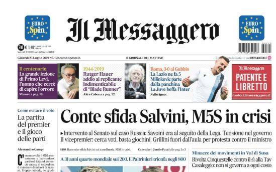 """Lazio, Il Messaggero: """"Milinkovic parte dalla panchina"""""""