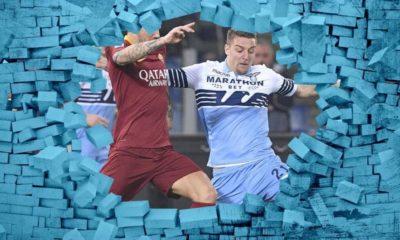Derby Lazio-Roma muro Tifoso