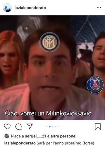 Milinkovic meme offerta Inter