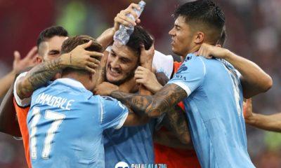 Lazio - Roma, esultanza gol Luis Alberto