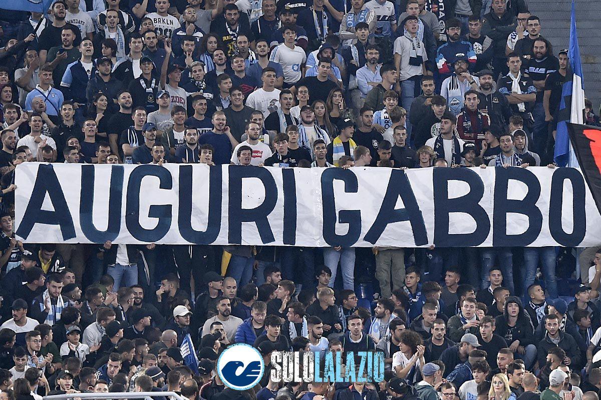 Lazio - Parma, striscione Gabriele Sandri